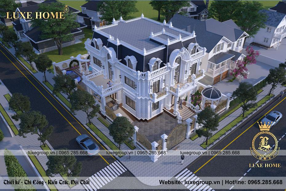 thiết kế bietj thự 2 tầng tân cổ điển pháp bt 2278