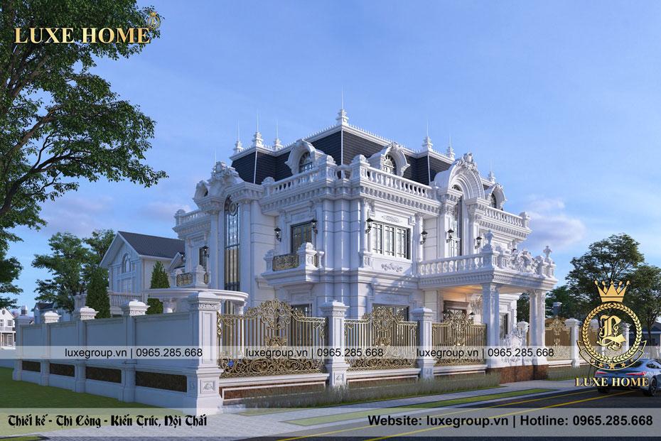 thiết kế biệt thự sân vườn 2 tầng bể bơi bt 2278