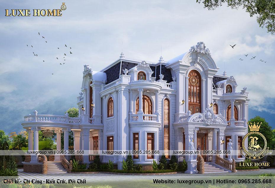 thiết kế dinh thự tân cổ điển