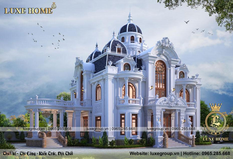 lâu đài tân cổ điển 2 tầng pháp