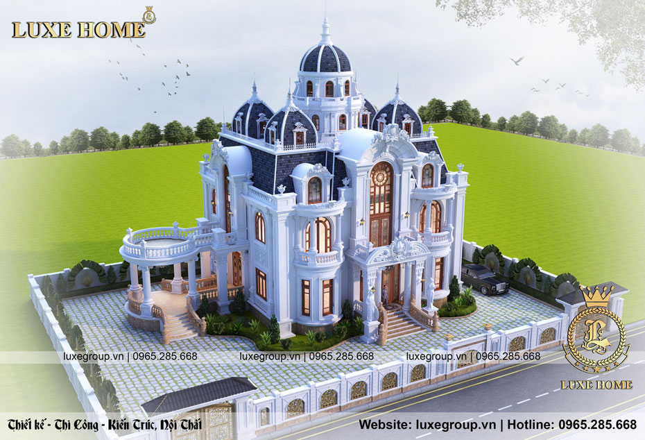 mẫu lâu đài pháp châu âu