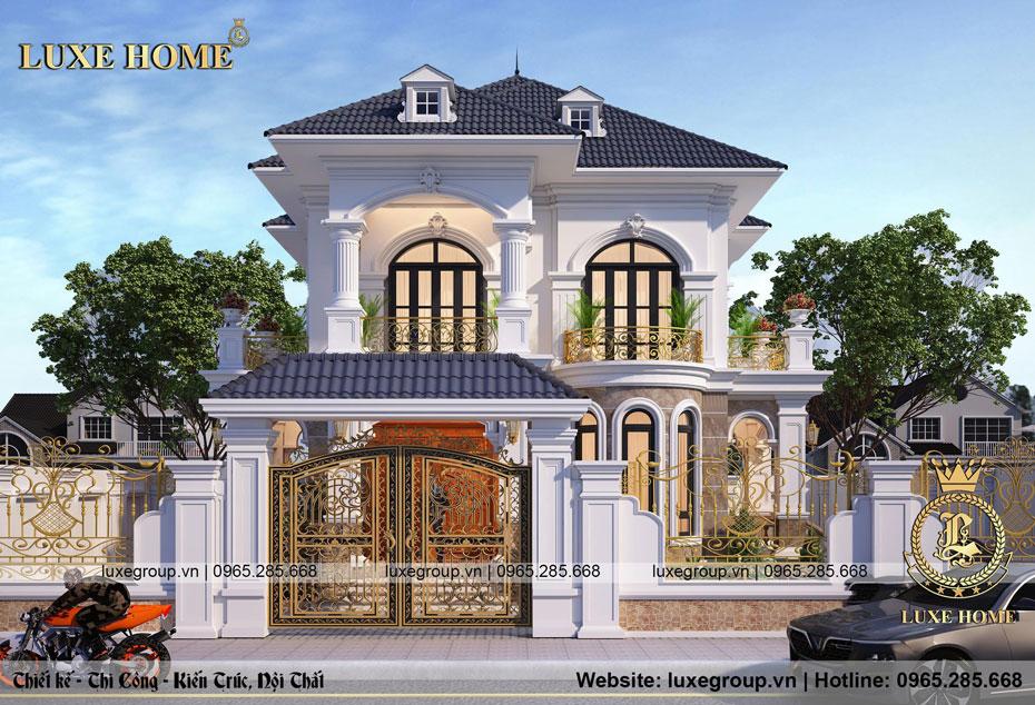 thiết kế mẫu biệt thự 2 tầng mái thái
