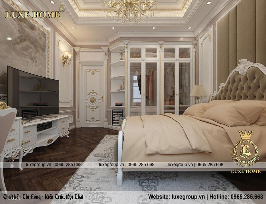 phòng ngủ tân cổ điển nt 0156