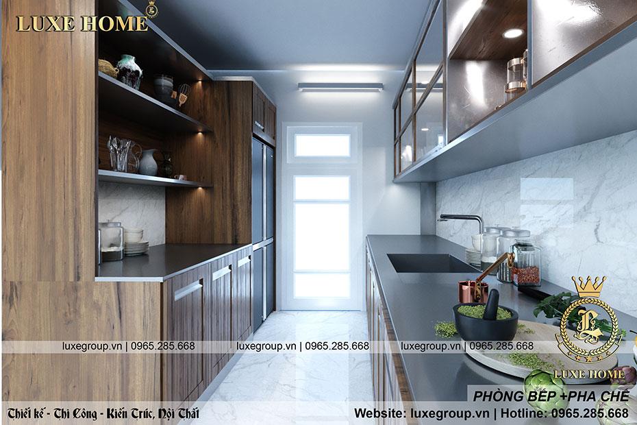 thiết kế phòng bếp và pha chế