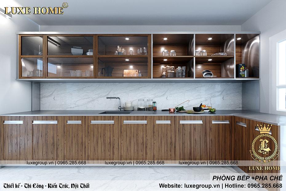 không gian nội thất phòng bếp