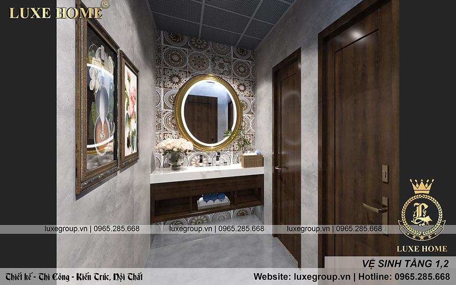thiết kế phòng vệ sinh tầng 1