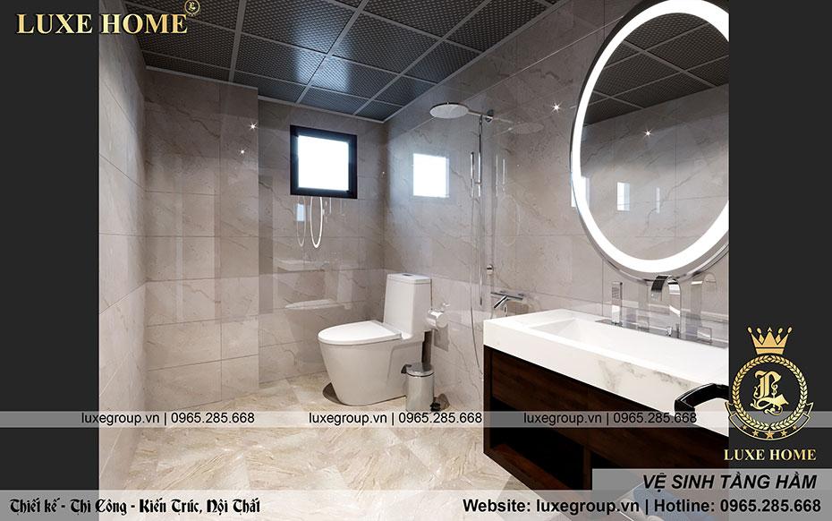không gian phòng vệ sinh đẹp