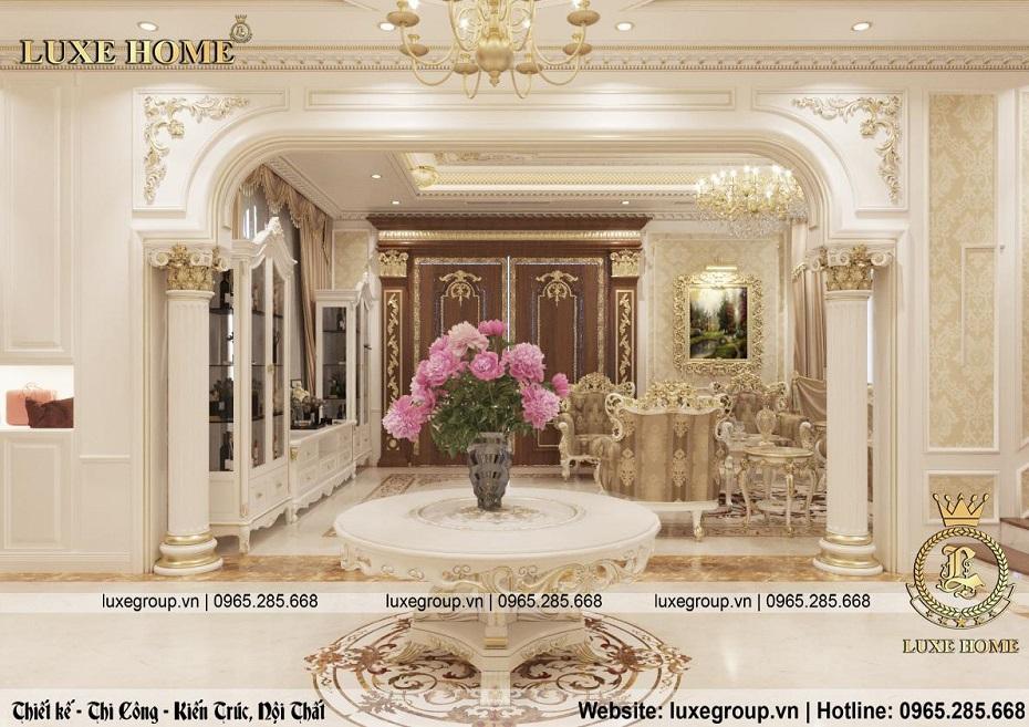 thiết kế nội thất biệt thự tân cổ điển đẹp bt 2253 04