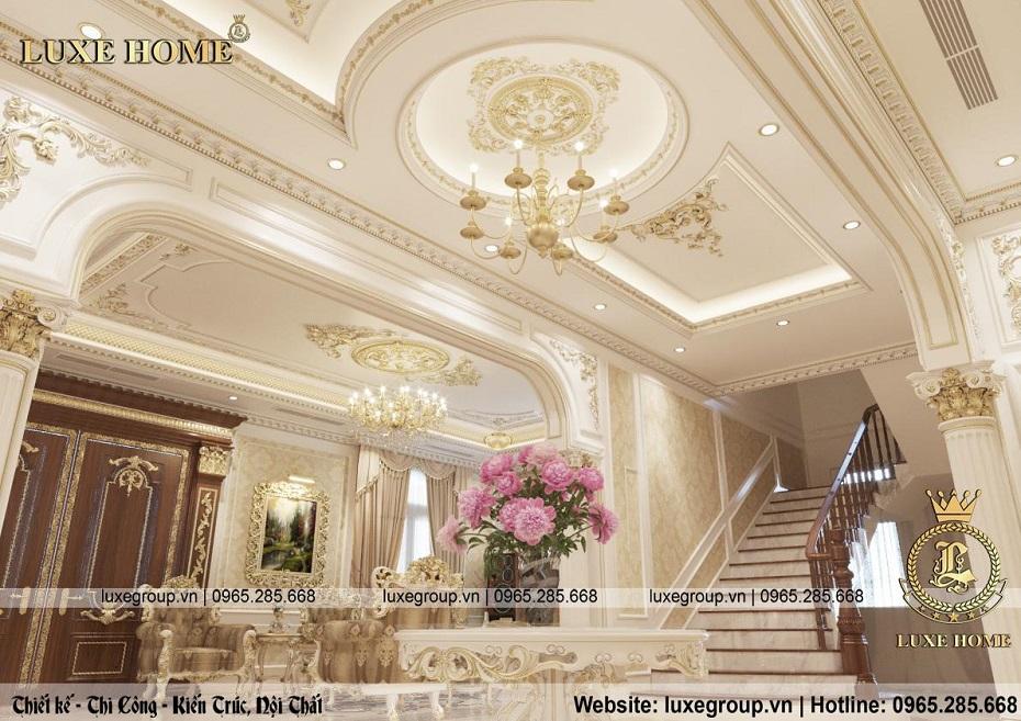 thiết kế nội thất biệt thự tân cổ điển đẹp bt 2253 06