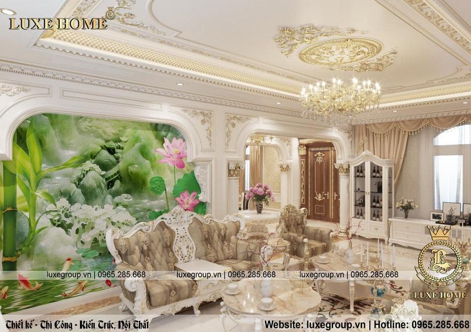 thiết kế nội thất biệt thự tân cổ điển đẹp bt 2253 02