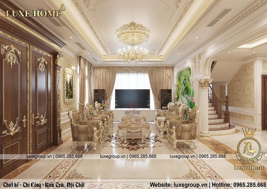 thiết kế nội thất biệt thự tân cổ điển đẹp bt 2253 03