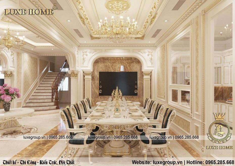 thiết kế nội thất biệt thự tân cổ điển đẹp bt 2253 05