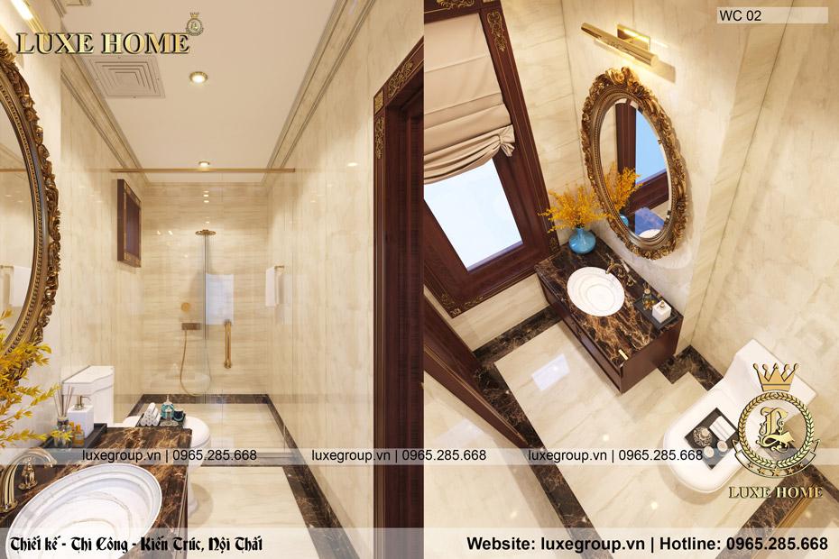 thiết kế phòng tắm sang trọng và đẳng cấp