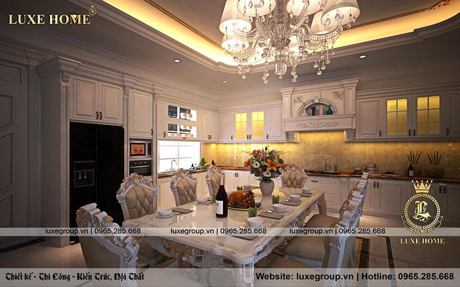 thiết kế nội thất phòng bếp ăn đẹp nt 0157