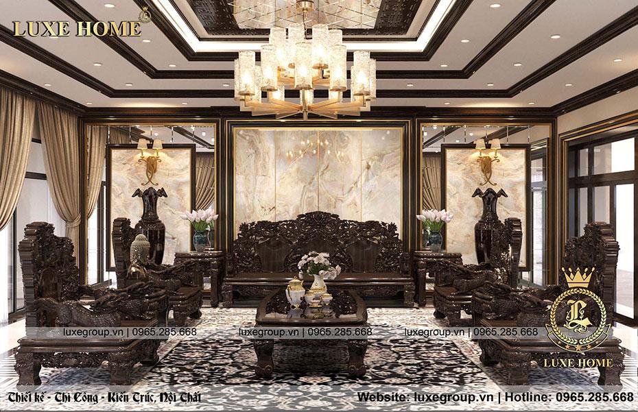 thiết kế nội thất phòng khách - nt 0157