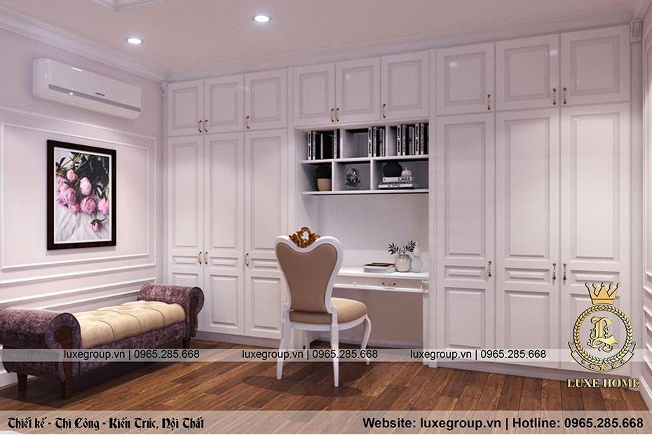 thiết kế nội thất biệt thự tân cổ điển bt 2269 07