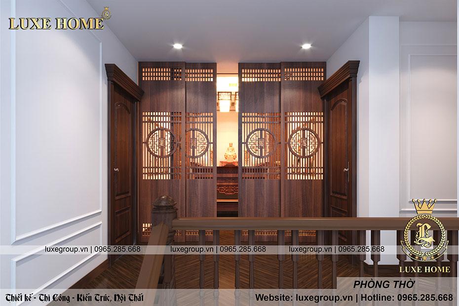thiết kế phòng thờ đẹp nt 0159