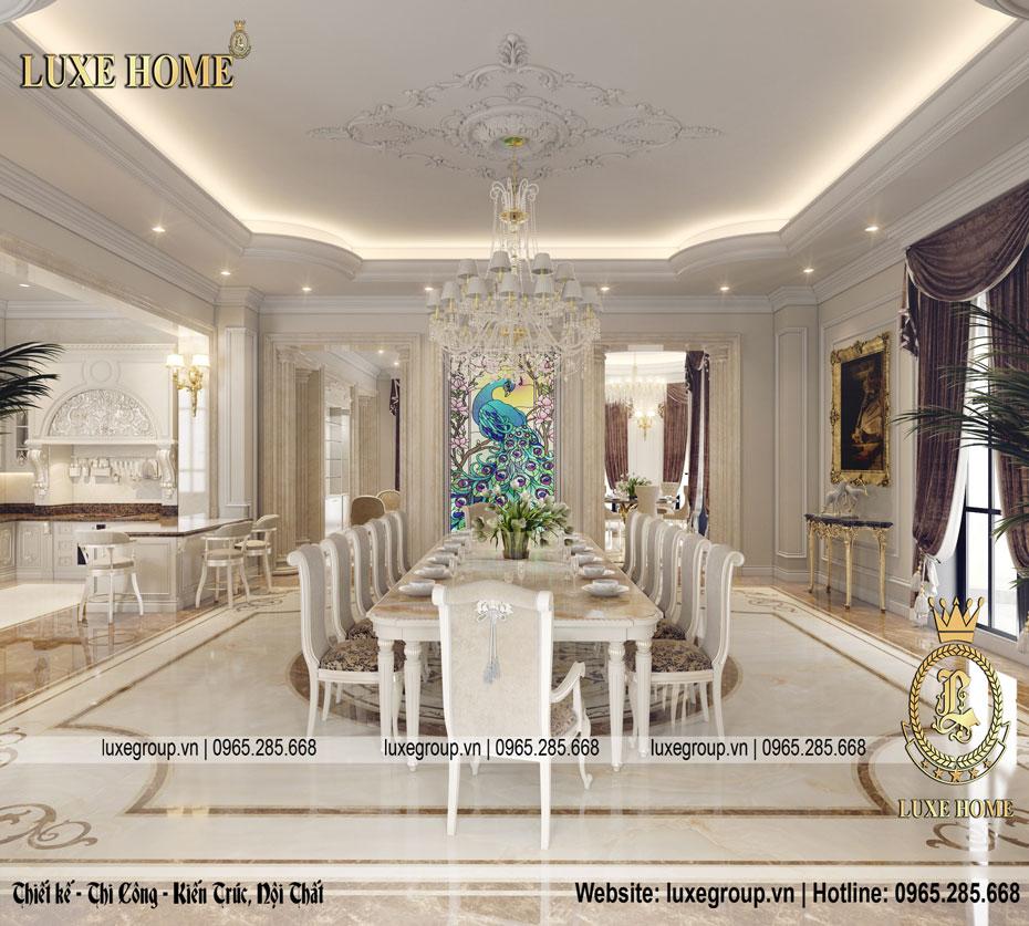 thiết kế nội thất phòng ăn vip