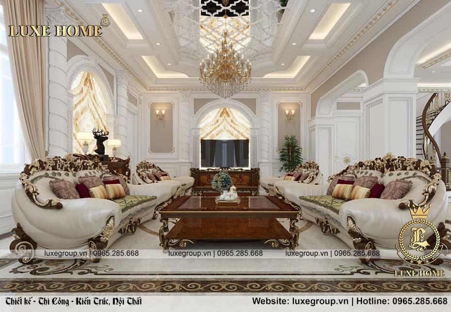 thiết kế nội thất biệt thự tân cổ điển bt 2269 02