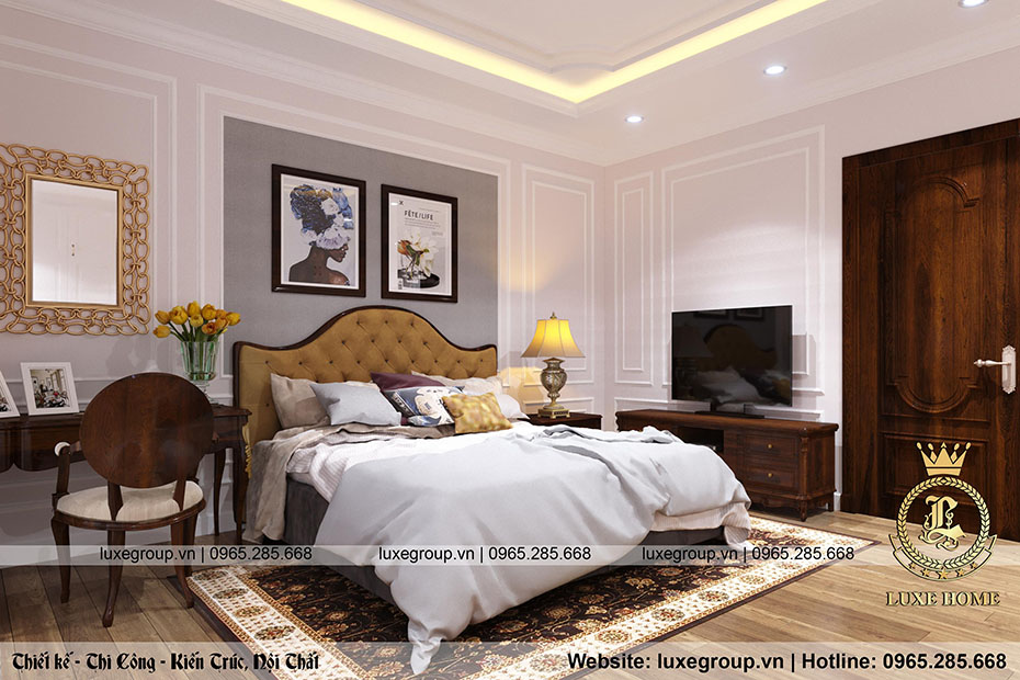 thiết kế nội thất biệt thự tân cổ điển bt 2269 05