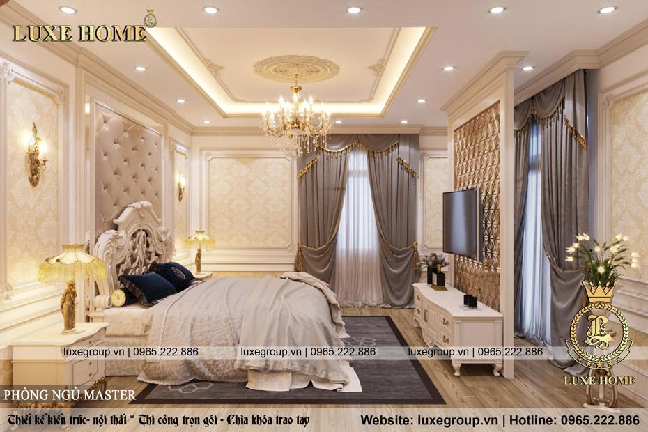 thiết kế nội thất biệt thự tân cổ điển đẹp bt 2253 08