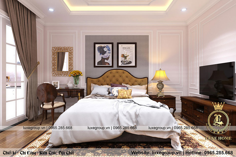 thiết kế nội thất biệt thự tân cổ điển bt 2269 06