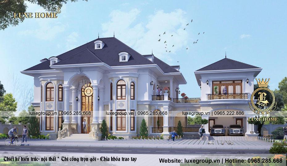 thiết kế biệt thự sân vườn bt 2124