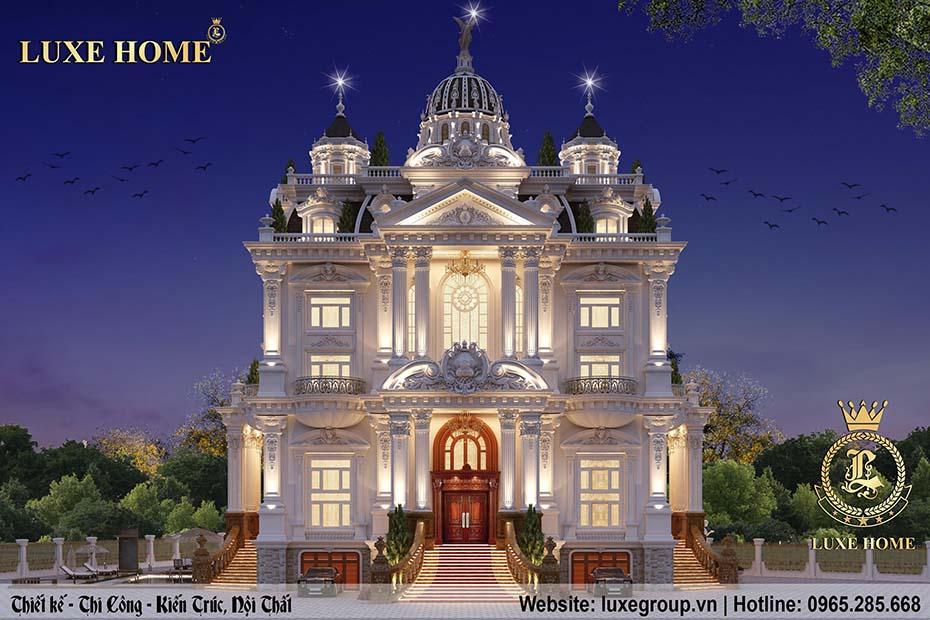 thiết kế lâu đài cổ điển 5 tầng ld 5113