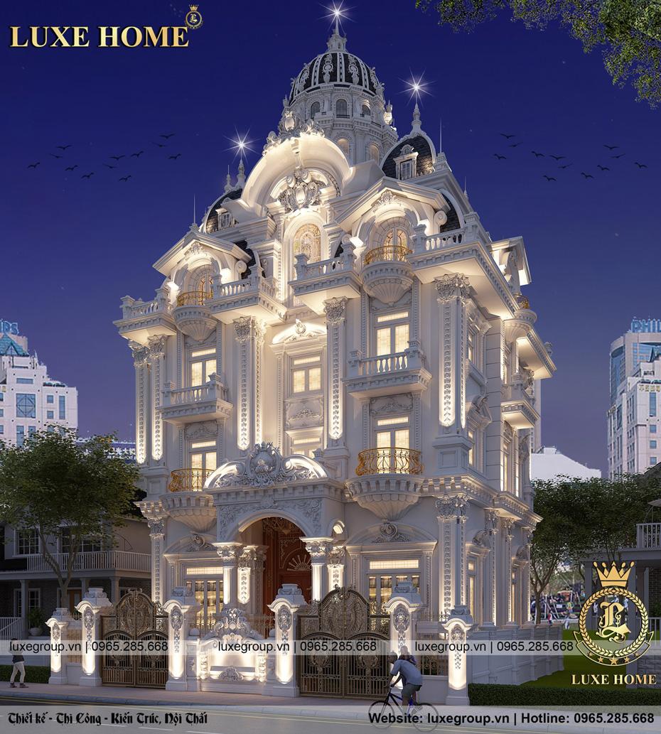 thiết kế lâu đài cổ điển 5 tầng bt 5117