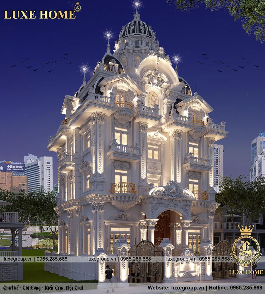 thiết kế lâu đài cổ điển 5 tầng ld 5117