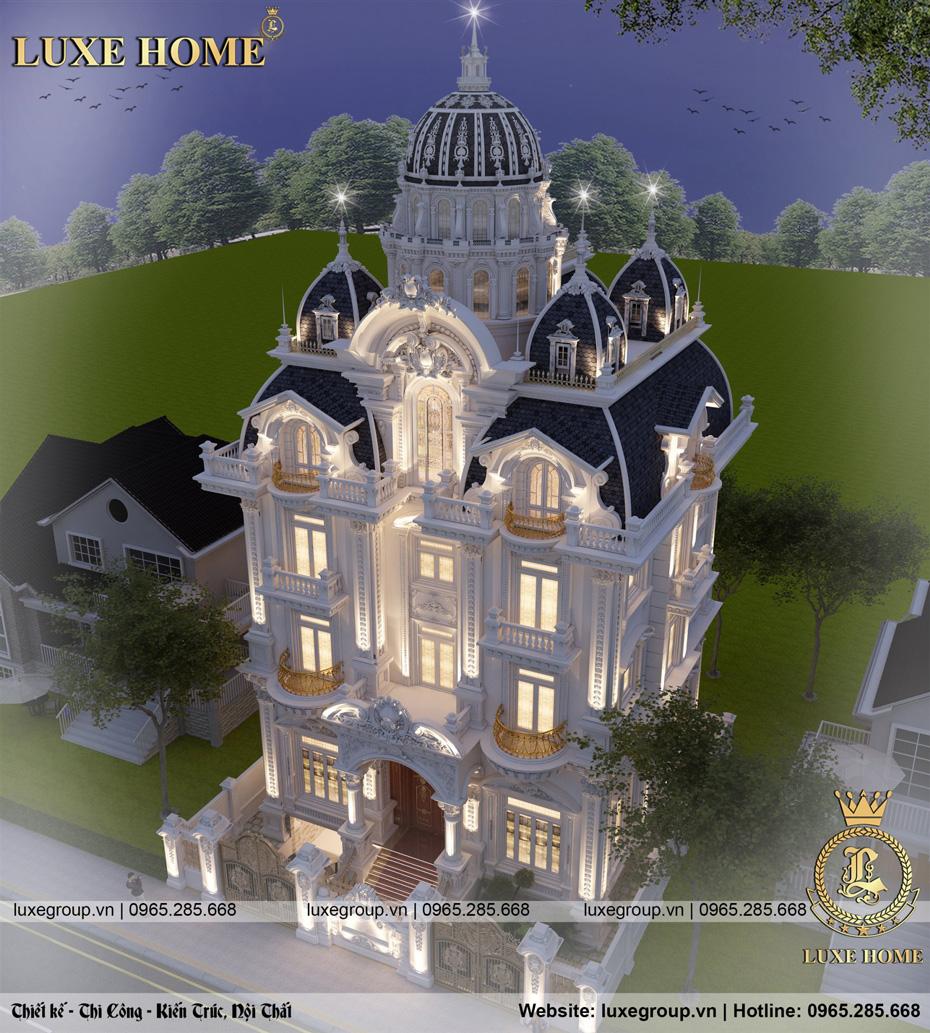 thiết kế lâu đài 5 tầng ld 5117