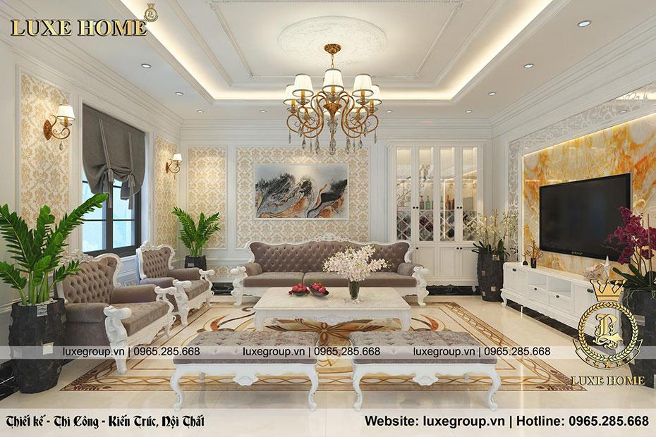 thiết kế nội thất phòng khách nt 0155