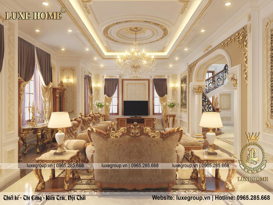 nội thất tân cổ điển dinh thự 2 tầng dt 2226 02