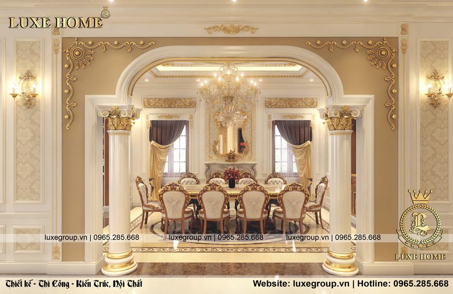 nội thất tân cổ điển dinh thự 2 tầng dt 2226 05