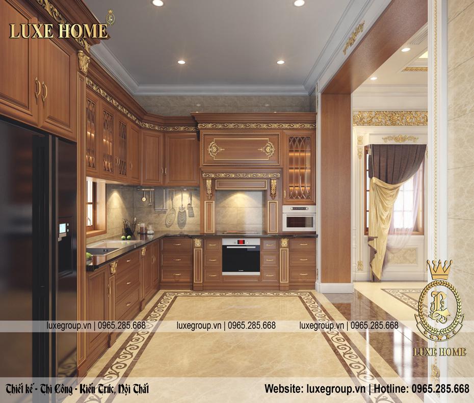 nội thất tân cổ điển dinh thự 2 tầng dt 2226 07