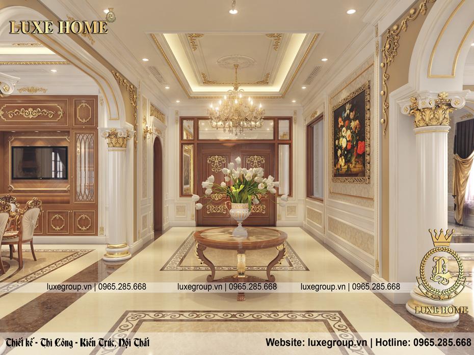 nội thất tân cổ điển dinh thự 2 tầng dt 2226 03