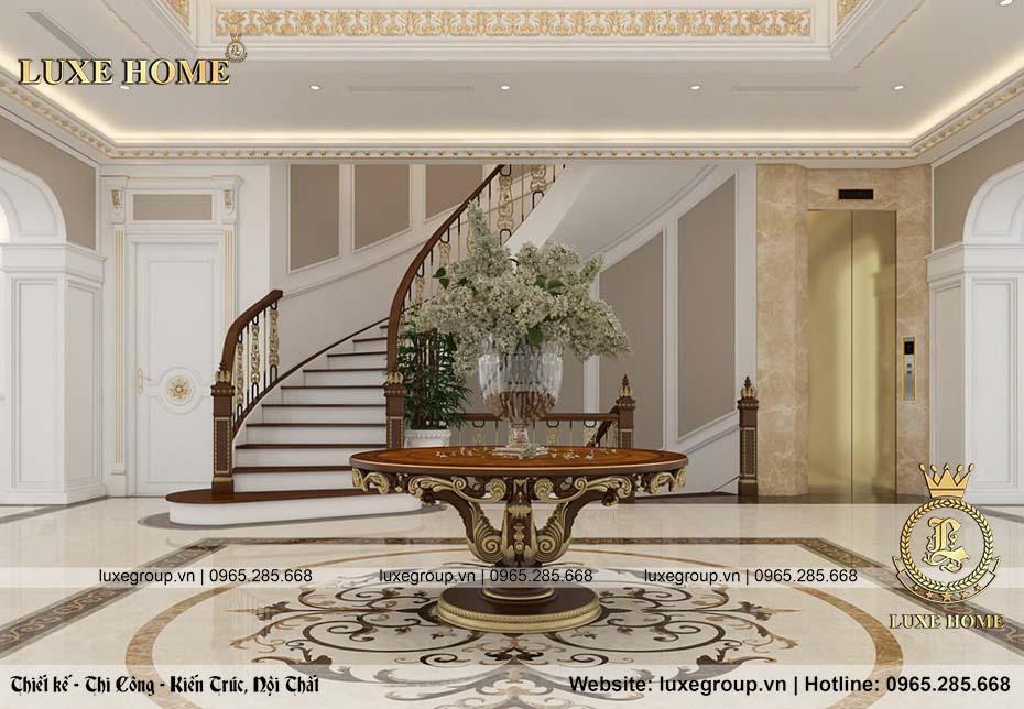 thiết kế nội thất biệt thự tân cổ điển nt 0151