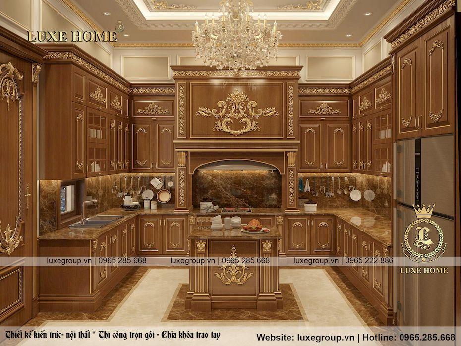 thiết kế nội thất lâu đài 2 tầng siều đẳng cấp ld 2228 06