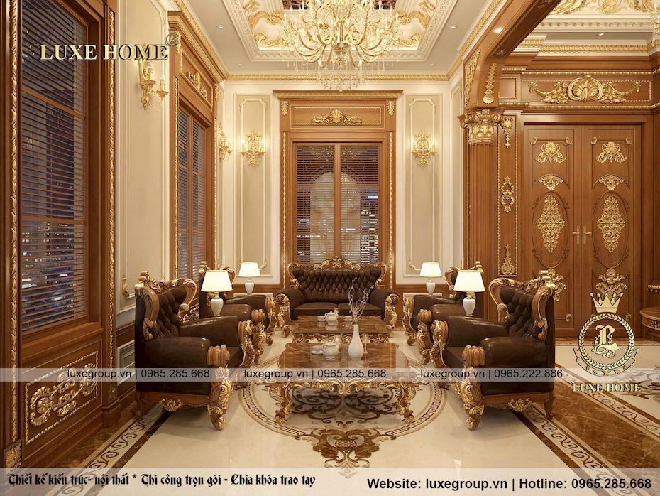 thiết kế nội thất lâu đài 2 tầng siều đẳng cấp ld 2228 02