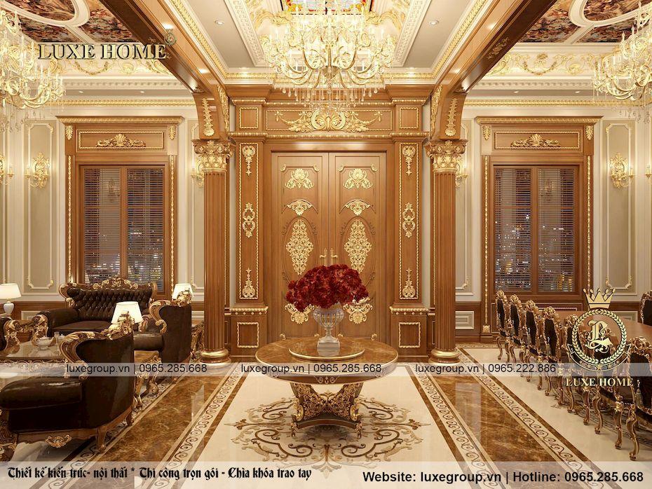 hình ảnh nội thất lâu đài 2 tầng ld 2283 03