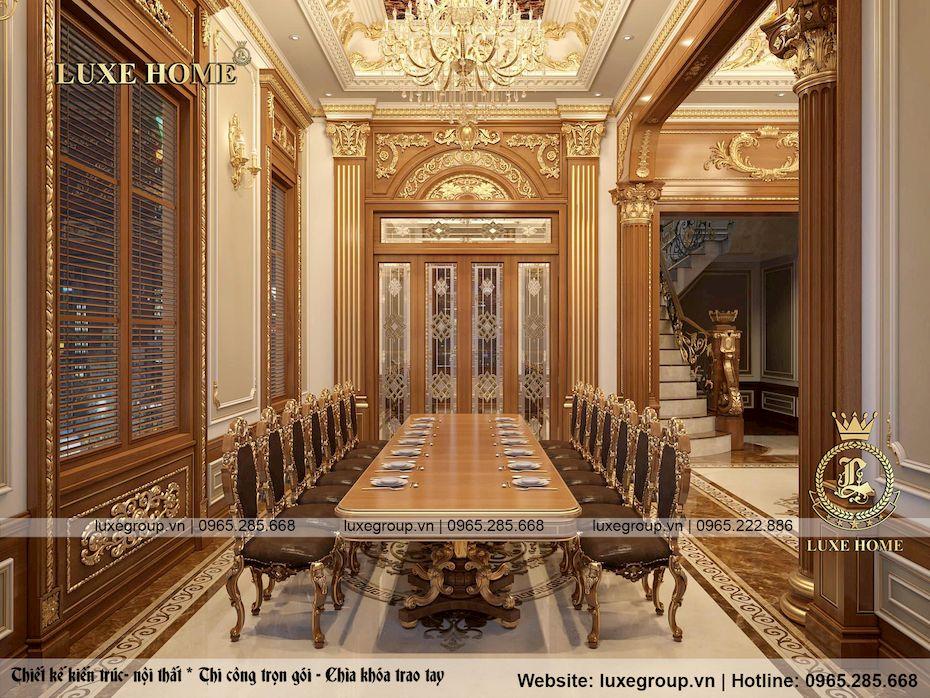 thiết kế nội thất lâu đài 2 tầng siều đẳng cấp ld 2228 05