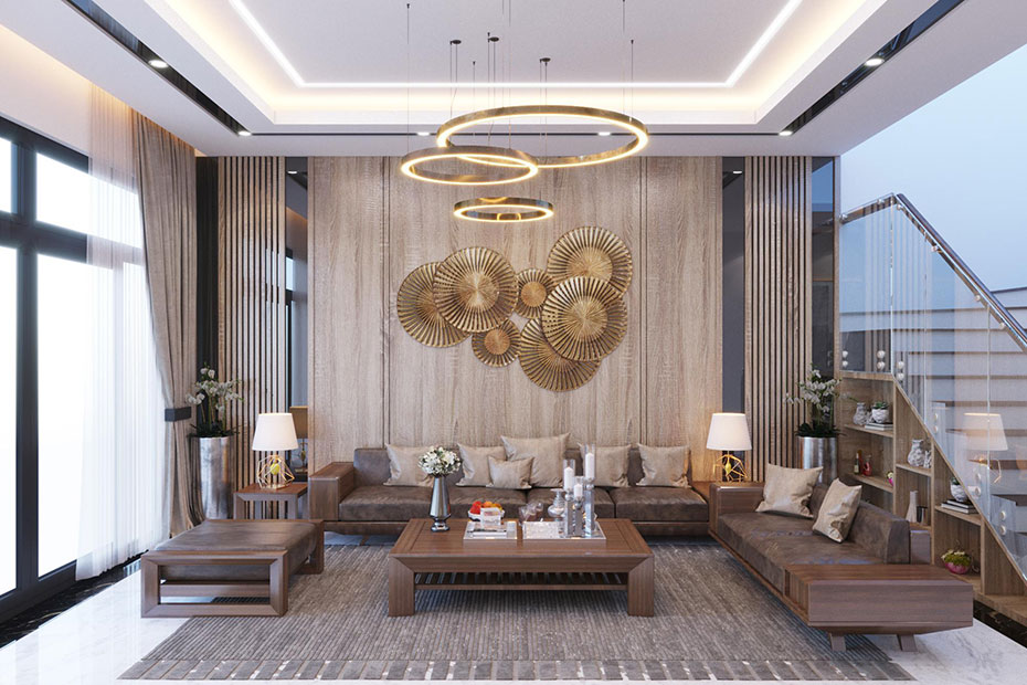 thiết kế nội thất phòng khách nt 0152