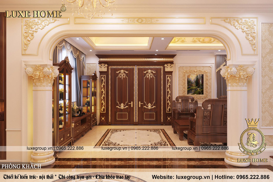 thiết kế nội thất biệt thự tân cổ điển bt 3236 02