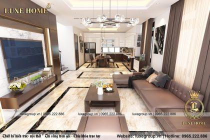 Thiết kế nội thất hiện đại biệt thự 2 tầng – NT 2123