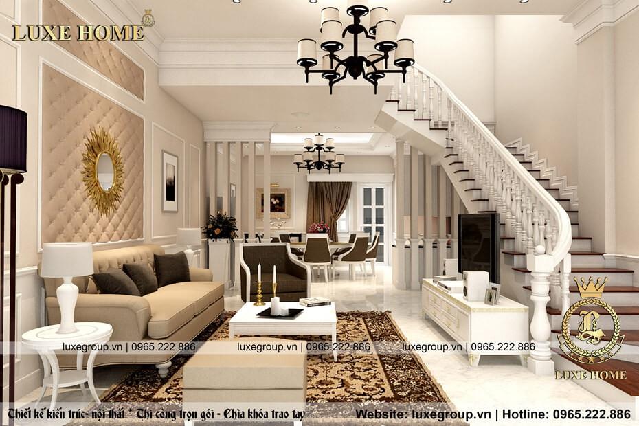 thiết kế nội thất phòng khách nt 0113