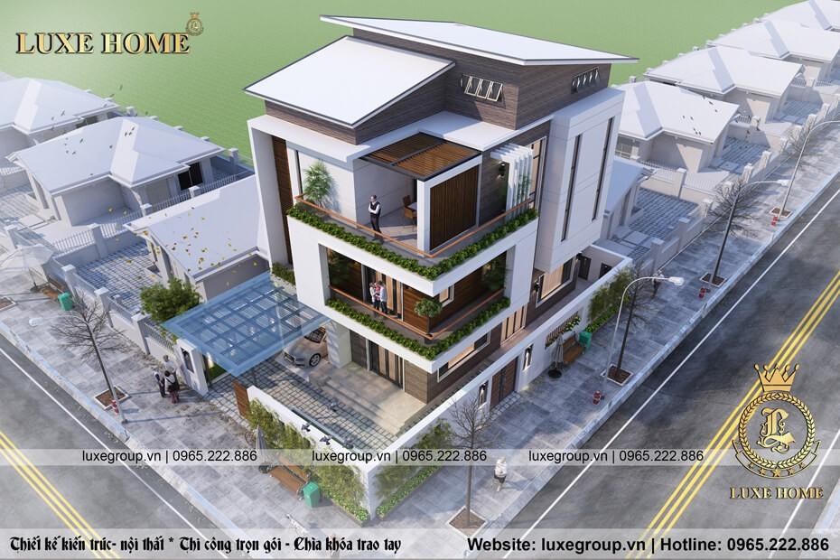 thiết kế biệt thự hiện đại 3 tầng bt 3153