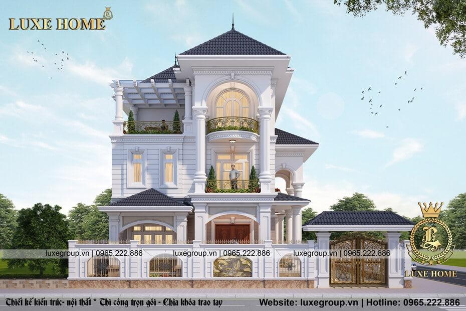 Biệt Thự 3 Tầng Tân Cổ Điển Tại Nam Định – Mã số: BT 3113