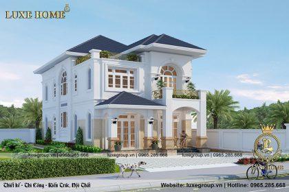 Mẫu thiết kế biệt thự đẹp tân cổ điển 2 tầng – BT 2187