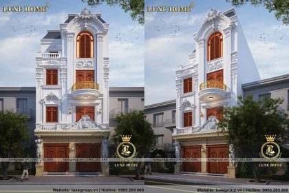 Nhà biệt thự 4 tầng tân cổ điển pháp – BT 41145