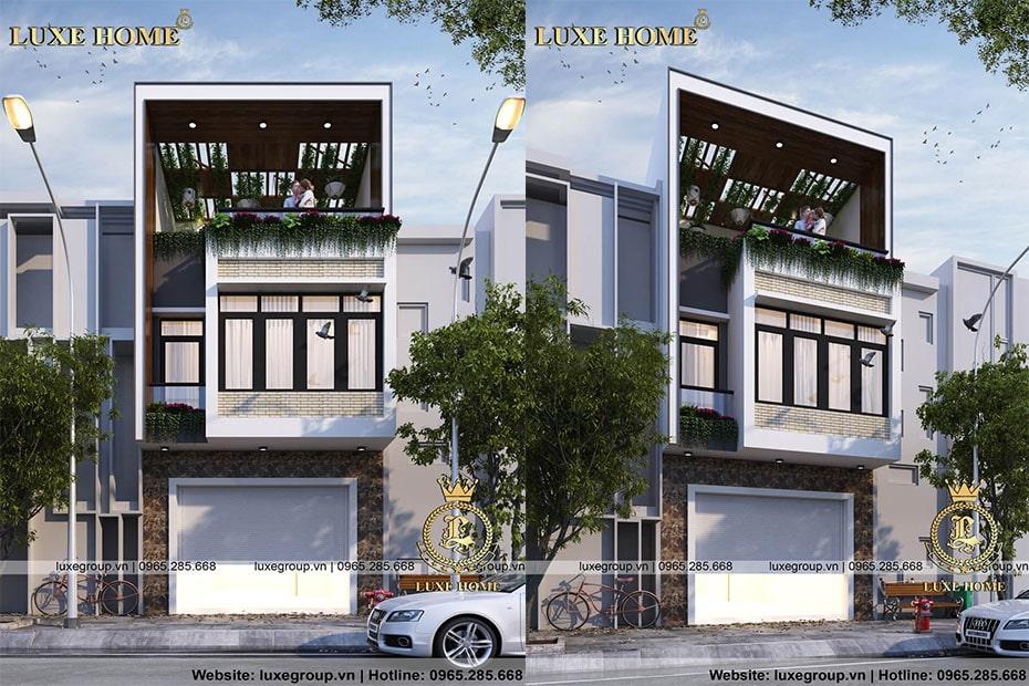 nhà biệt thự 3 tầng hiện đại bt 31765